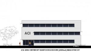 232 2006 ontwerp kantoorgebouw (2400m2) Maastricht voorgevel