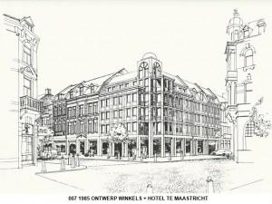 007 1985 Maussen; winkels+hotel