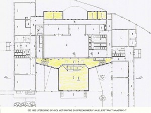 093 1992 St. Michaelschool, plattegrond uitbreiding