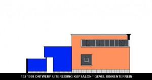 152 1998 ontwerp gevel Rijksweg binnenterrein