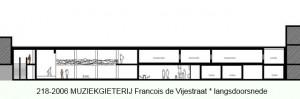 218-2006 MGM Francois de Vijestraat - langsdoorsnede