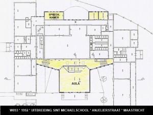 093 1992 02 plattegrond St. Michelschool